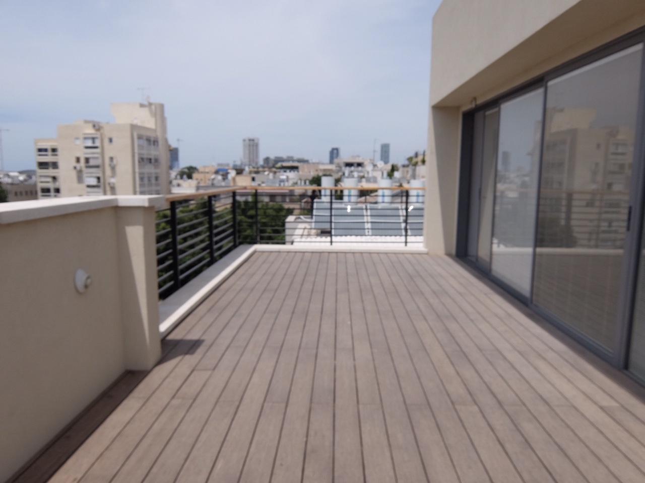 Habima area: Huge duplex with 4 bedrooms and 3 parkings