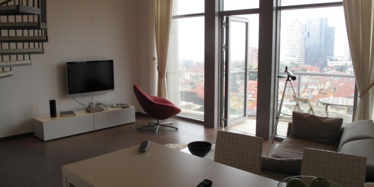 Neve Tzedek Tower Living Room-min