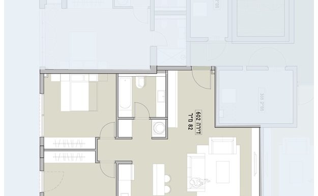 קומה 2 דירת 3 חד' דרום מזרח