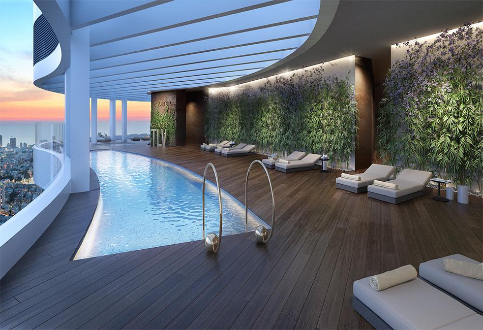 IN A NEW GINDI PROJECT A NEW APT WITH PARKING AND LARGE BALCONY