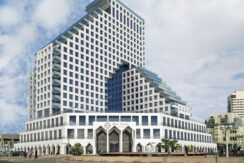 Opera Tower, TLV Promenade: 3 room apt with sea view & parking